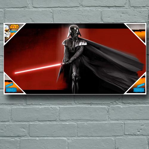 star wars dark vador poster impression sur verre fantasy corner. Black Bedroom Furniture Sets. Home Design Ideas