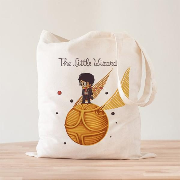 Harry Potter: The Little Wizard Premium – Tote Bag – Art by Naolito