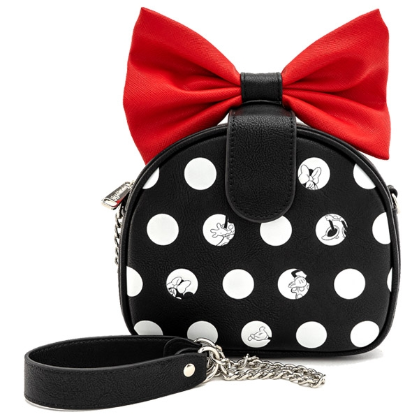 Disney by Loungefly Mini Sac Bandouliere Minnie Polka Noeud Rouge