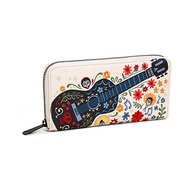 Disney Loungefly Portefeuille Coco Guitare Broderie